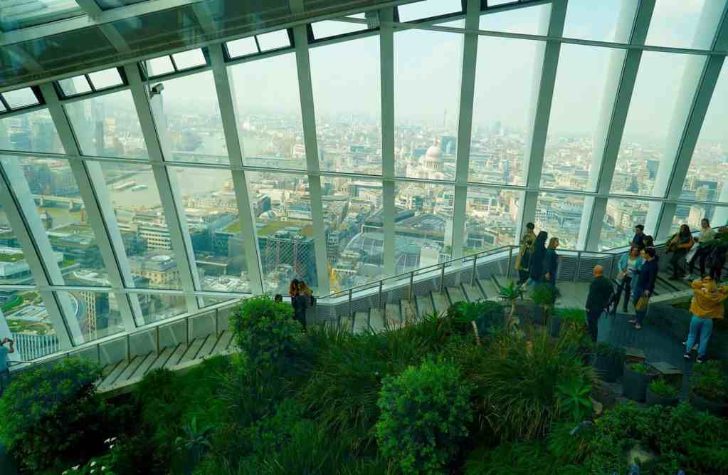 The view here definitely makes Skygarden one of the most Instagrammable places in London.