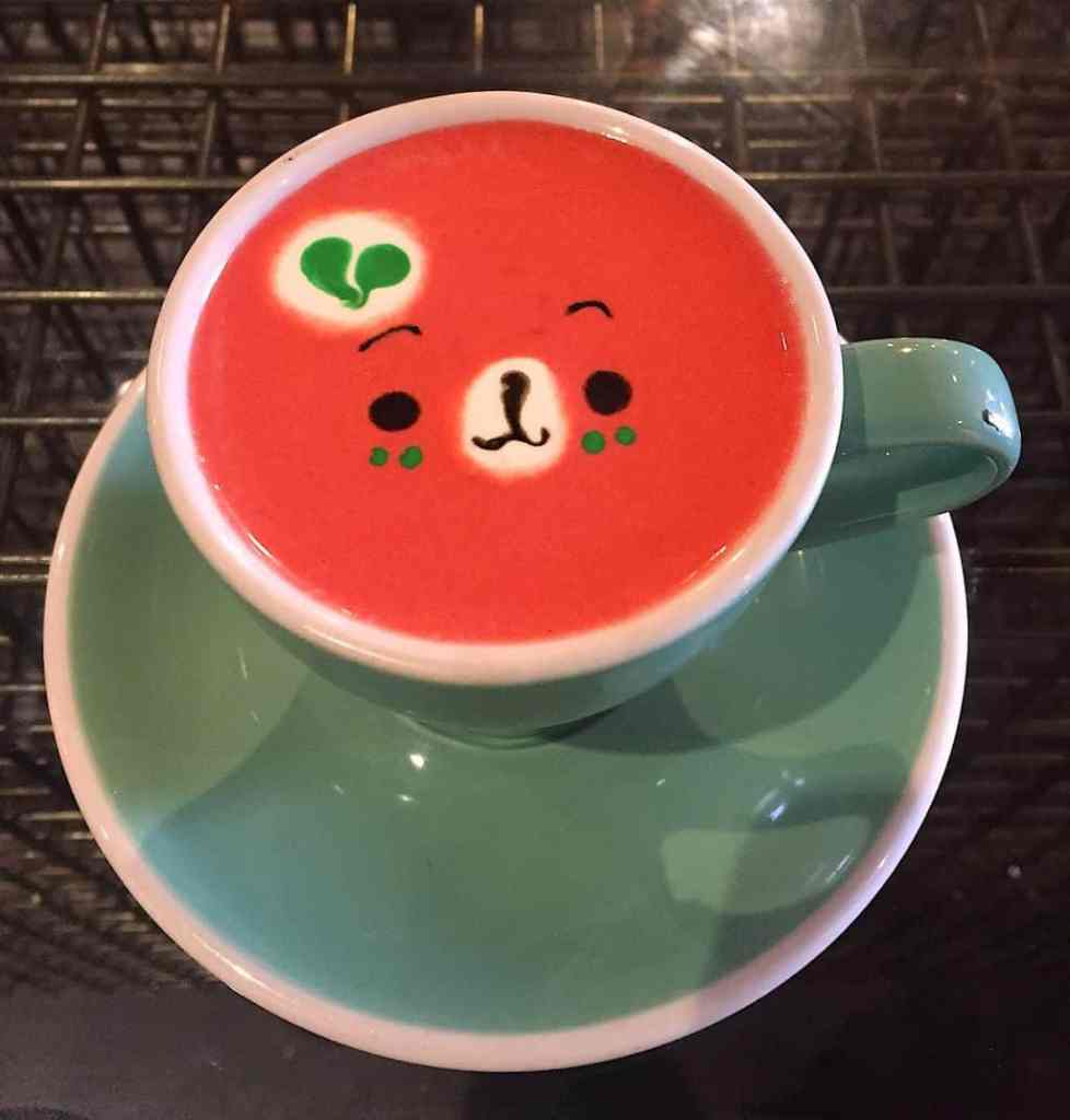 Sweet Moment is home to the cutest latte that I've ever seen.