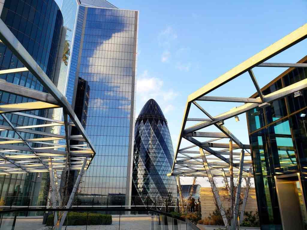 The rooftop garden on Fenchurch Street is another fantastic, free, and slightly less famous place to enjoy panoramic views of London.