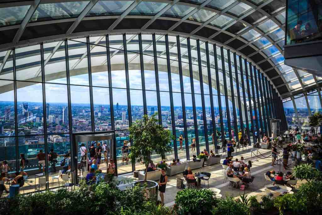 The ethereal, SKY high beauty of SkyGarden makes it one of the many pretty places in London.
