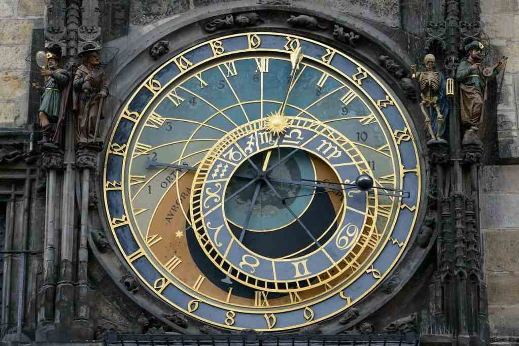 Prague's beautifully iconic, astronomical clock.