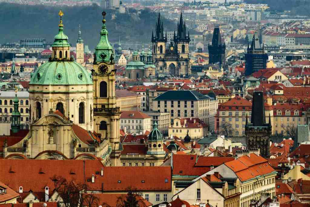 The old world beauty of Prague's historic skyline.