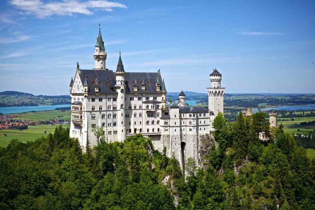 The ethereal beauty of summer at Neuschwanstein Castle in Germany.