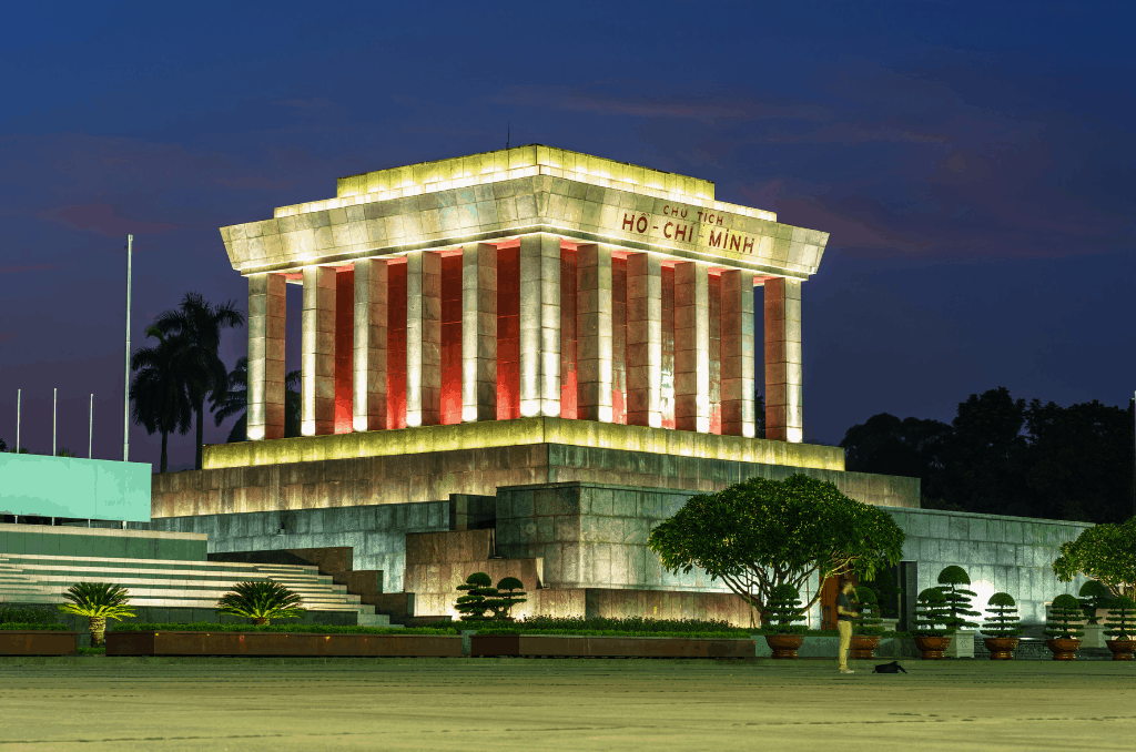 No Hanoi 2 day itinerary would be complete without a trip to Ho Chi Minh Mausoleum.