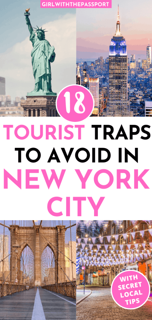 Check out 18 of the WORST tourist traps in NYC. Find out what not to do in NYC so that you can avoid these places like the plague. Because trust me, not one wants to wait hours in line, only to spend their hard earned money on something that is just mediocre. Also check out my picks for alternative things to do in NYC that will save you both time in money. #NYCGuide #TravelNYC #VisitNYC #NYCTips
