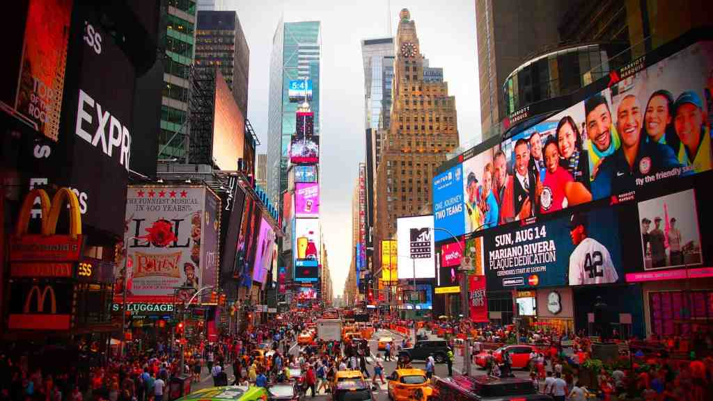 The always iconic, glitz and glam of NYC's Times Square.