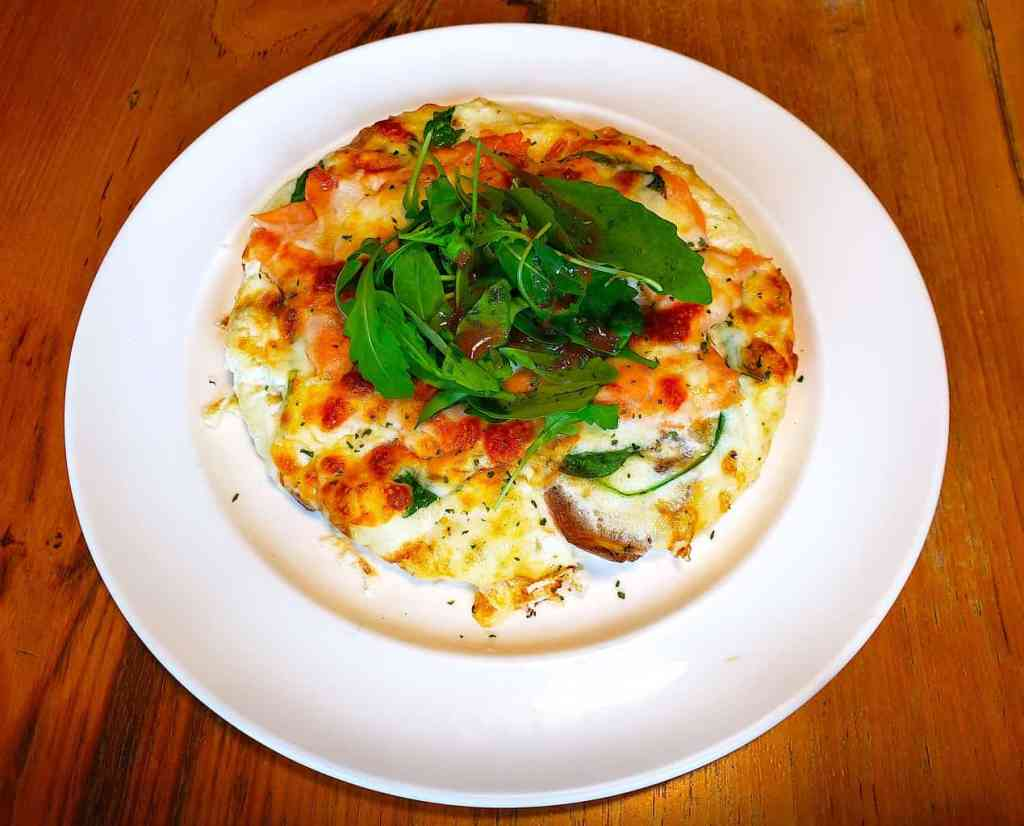 The obscenely healthy, egg white fritata that I ordered from Chu's in Bangkok.