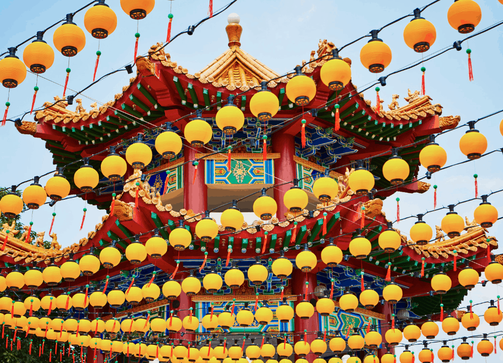 The vibrant beauty of Thean Hou Temple in Kuala Lumpur.