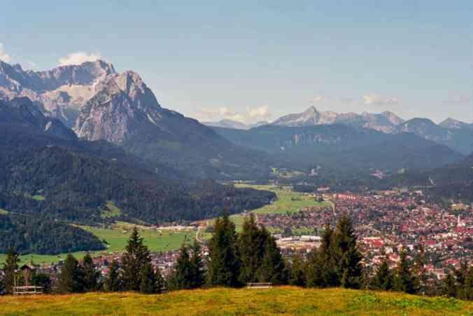 The beautiful, natural landscape of Garmisch-Partenkirchen, Germany.