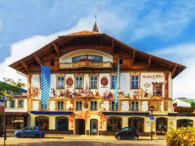 One of the many enchanting buildings you'll find in Oberammergau, Germany.