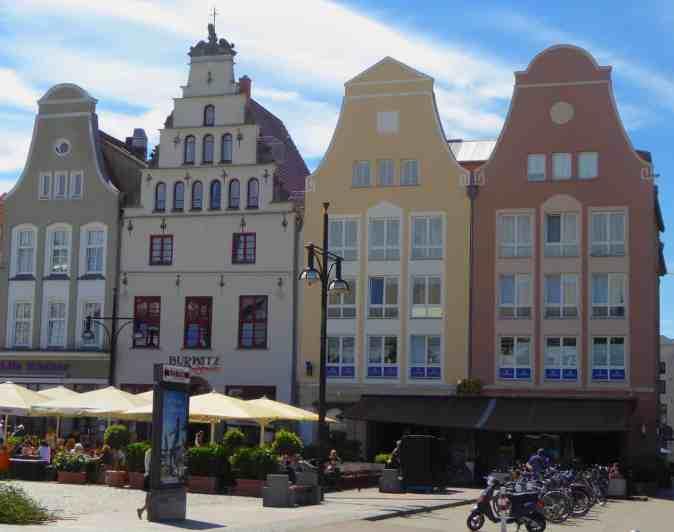 The quaint charm of Rostock, Germany.