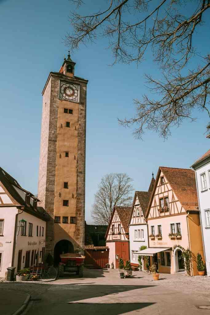 The quaint, historic charm of Rothenburg ob de Tauber, Germany.