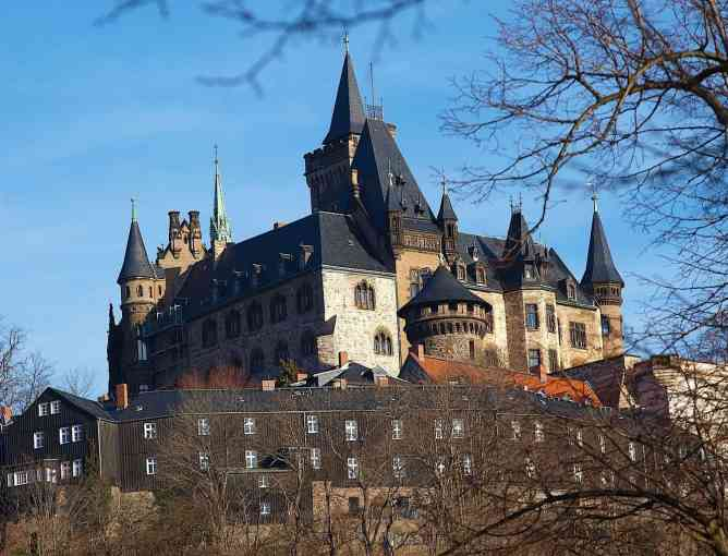 The ancient charm of Wernigerode Castle in Germany.