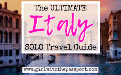How to Solo Travel Italy!