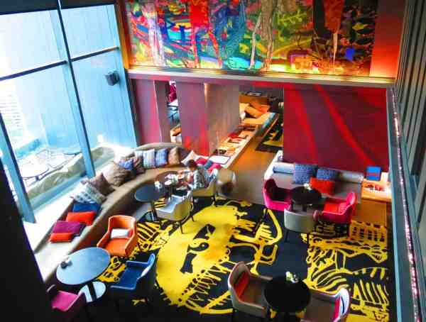 Some of the incredibly colorful rooms that you'll find at So Sofitel in Bangkok.