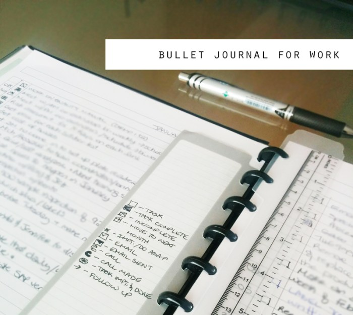 Bullet Journal for Work
