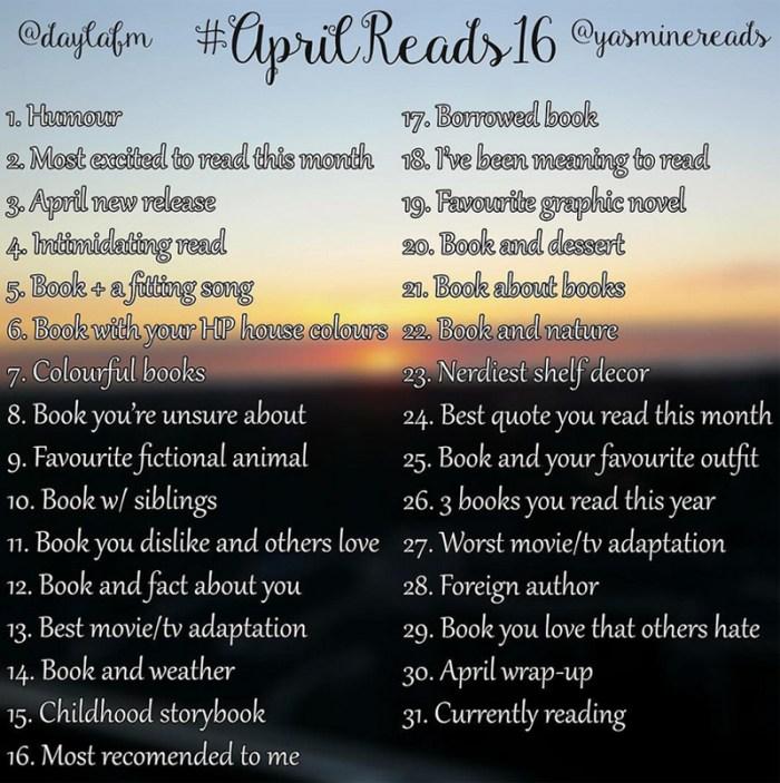 AprilReads Bookstagram Challenge