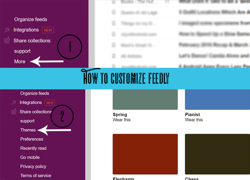 Customize Feedly
