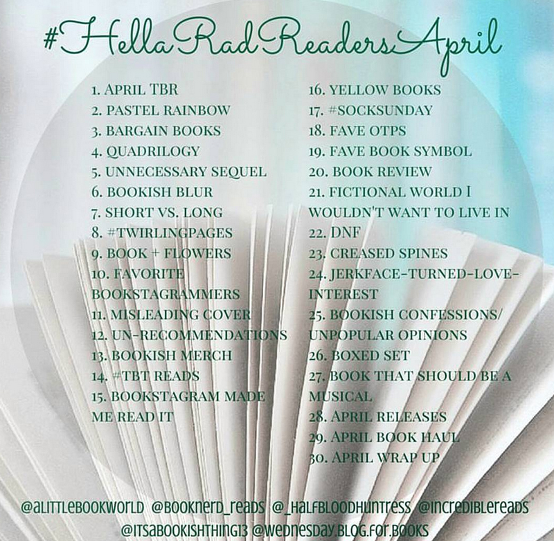 helloradreadsapril bookstagram