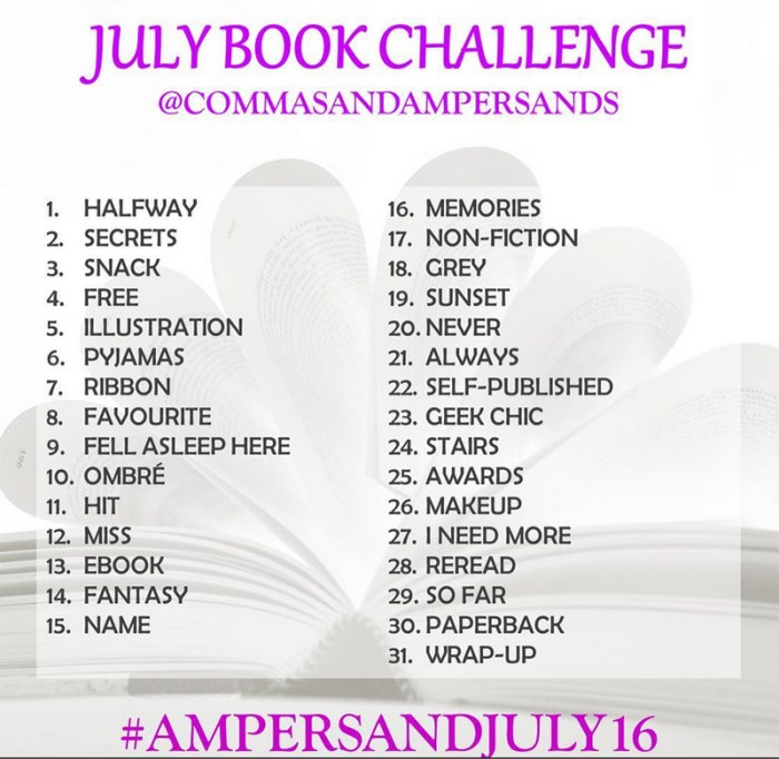 July Bookstagram Challenge