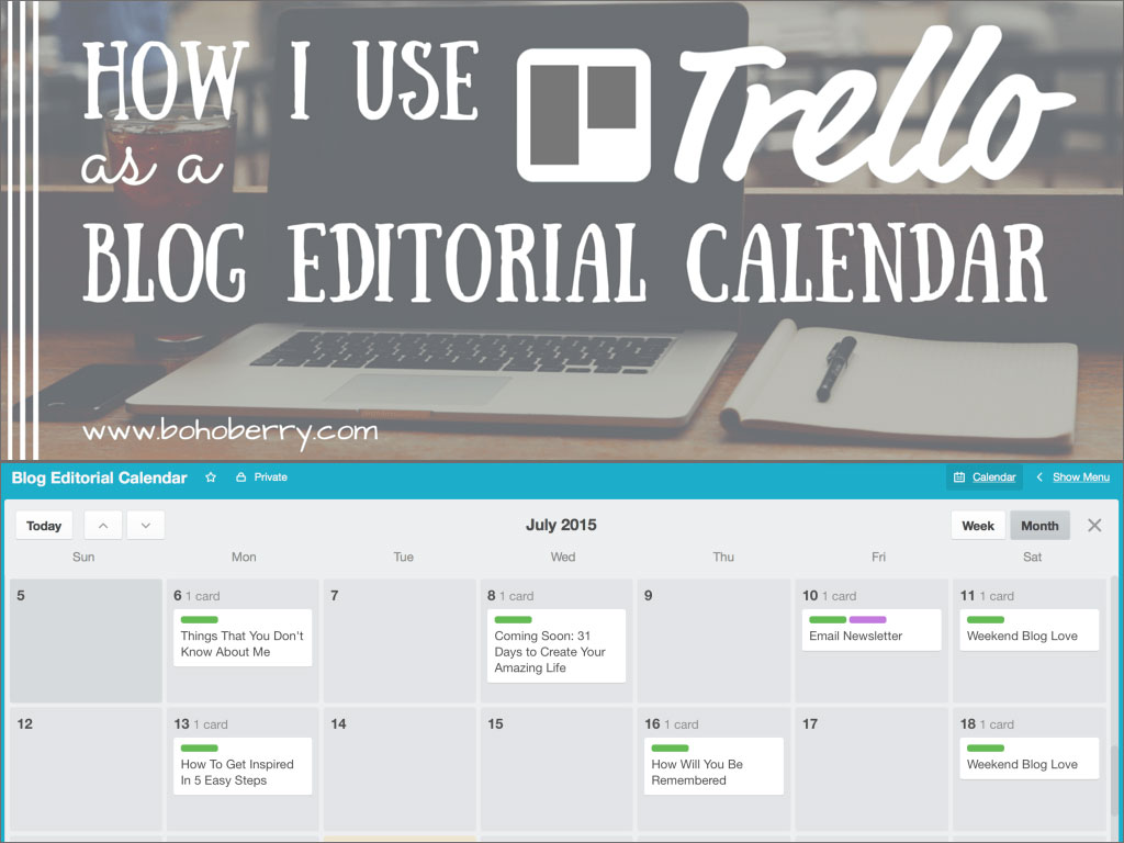 Using Trello as a Blog Editorial Calendar