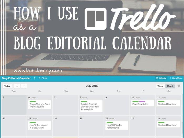 Using Trello as a Blog Editorial Calendar
