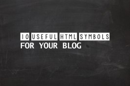 HTML Symbols for Blogs