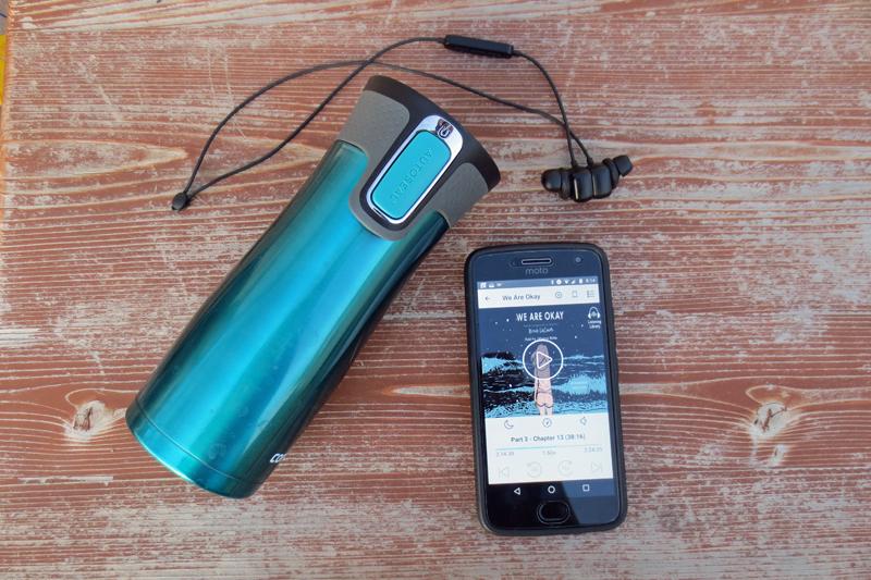 Contigo Mug and Anker Wireless Earbuds