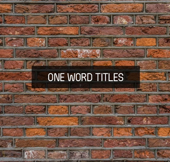 Books With One Word Titles