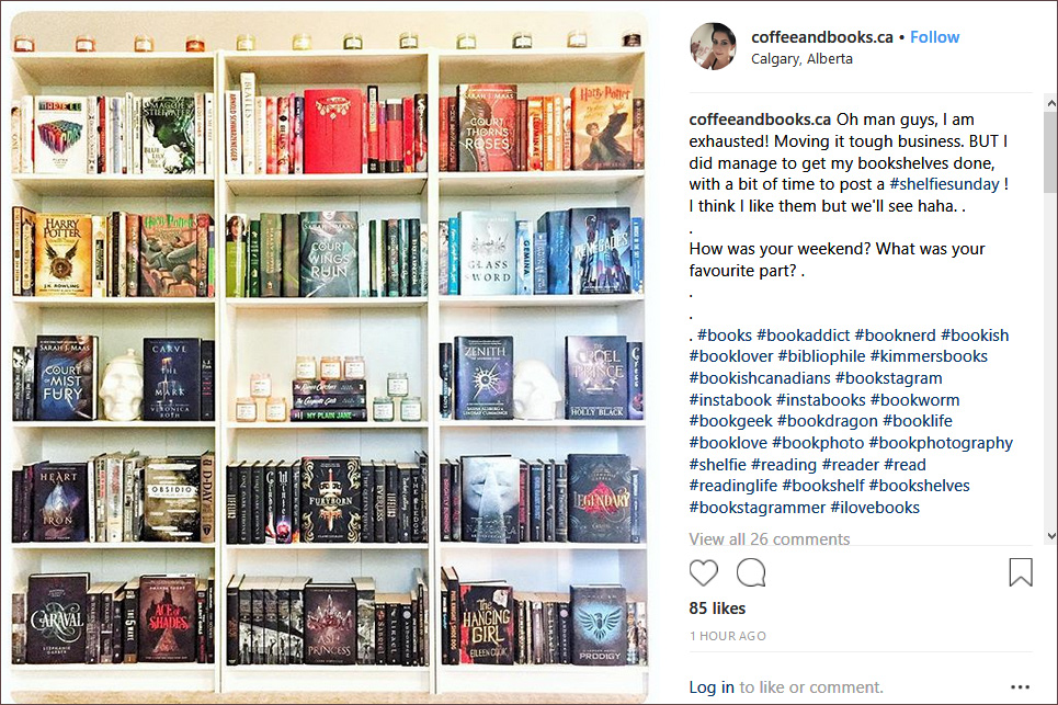 Shelfie Instagram