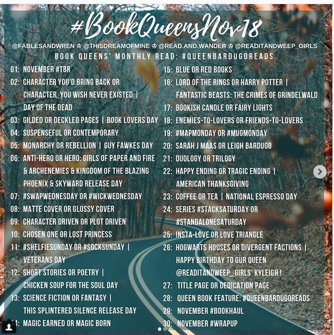 bookqueensnov18 instagram book photo challenge