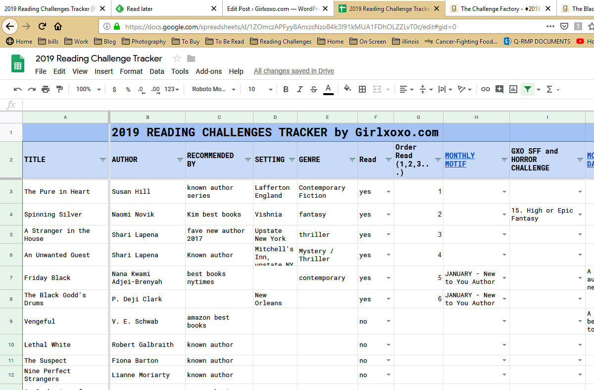 Reading Challenge Tracker TP