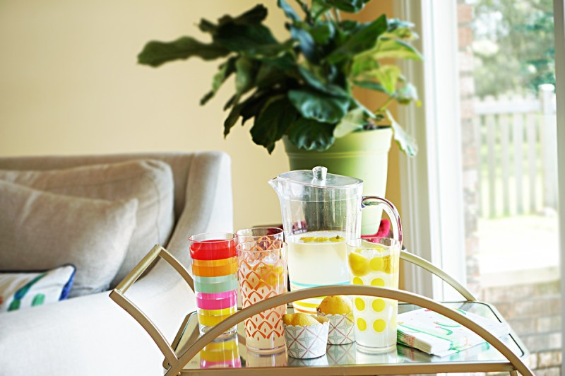 lemonade bar cart