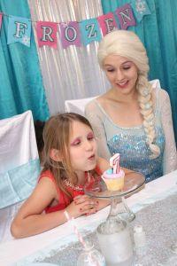 Elsa inspired Frozen Birthday in North Carolina