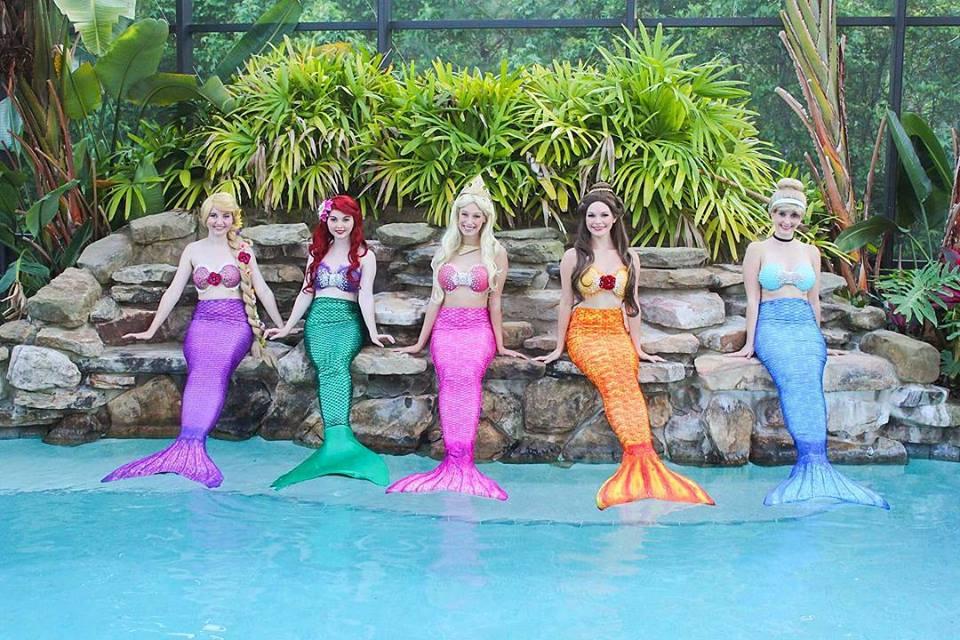 Professional Mermaid Swimming Mermaids Princess Mermaids Pool Birthday Party