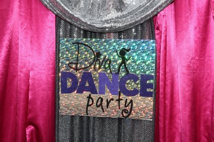 Diva Dance Party Birthday Backdrop