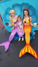Rapunzel and Belle Mermaids Princesses at Feel the Wheels 2016