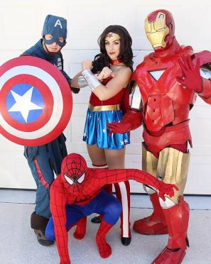 Superhero Birthday Party Characters for Hire