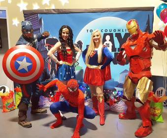 Superhero Birthday Party and Community Event