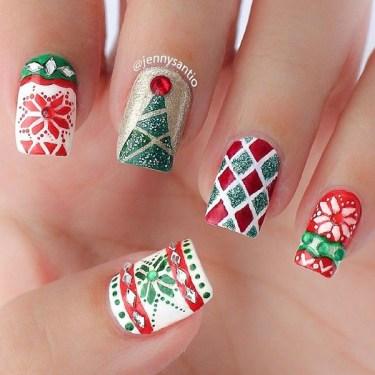 Christmas Nail Arts 1