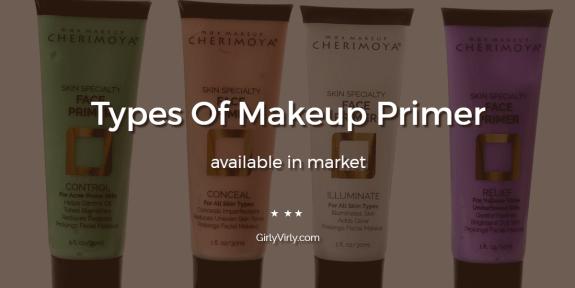 Types Of Makeup Primer
