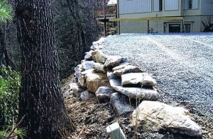 Past Work a Natural style Stonework retaining wall