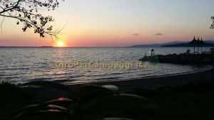 Tramonto sul Lago Trasimeno all Camping Village Italgest