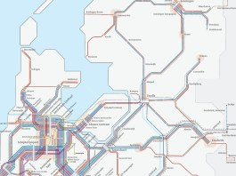 Image 1: Railway connections Randstad - Northern Netherland. Source: (Goudappel Coffeng, 2018)