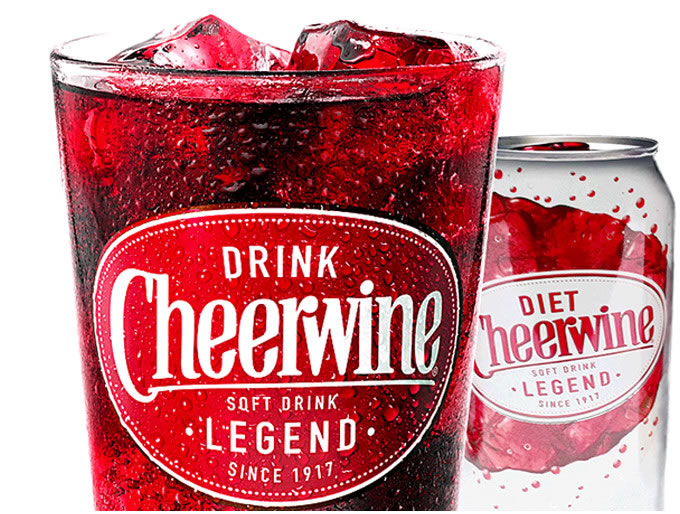 Cheerwine Logo and Can Display