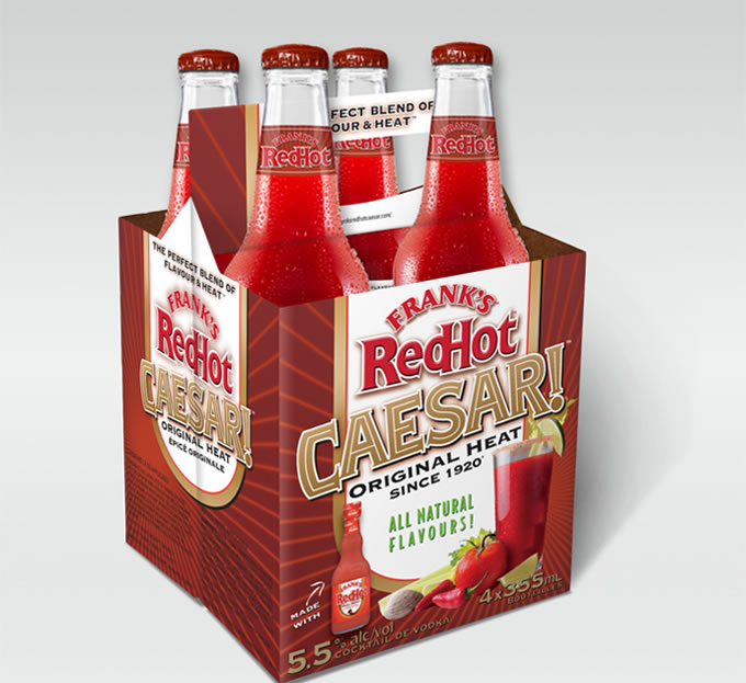 Frank's Red Hot Caesar 6 Pack Packaging
