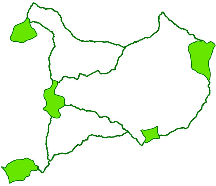 conectividad territorial con GIS