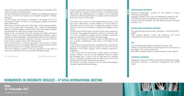 Brochure Biomarkers 2017 1° Annuncio 2