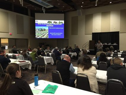 Attendees received information from the Dept. of Labor and Industries regarding Accident Prevention Programs to help find hazards before they cause accidents and manage hazard corrections to prevent employee injuries on the job.