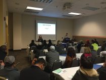 Volunteers from OIC of Washington assisted at Agriculture Safety Day to interpret several of the workshops so that almost every class was available in English and Spanish. St. Michelle Wine Estates provided information on Lock-Out Tag-Out in this session.